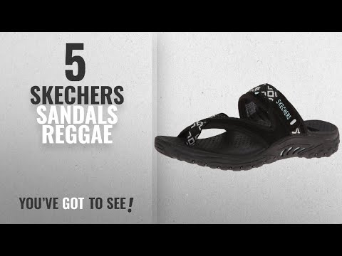 Top 5 Skechers Sandals Reggae [2018]: Skechers Women's Reggae Trailway Flip Flop, Black/White, 9 M