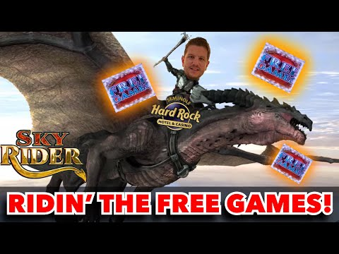 Sky Rider Free Game Bonus Big Win Aristocrat Slot Machine Video