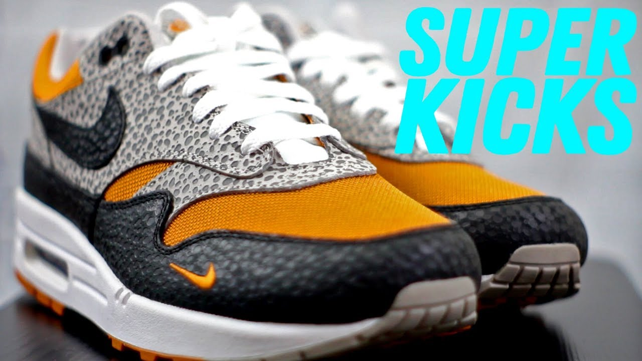 SIZE? WHAT THE SAFARI NIKE AIR MAX 1 UNBOXING & REVIEW (SUPER KICKS Episode 1)