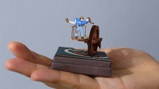 Castle in the Sky Miniature Paper Craft Ghibli ~ 天空の城ラピュタ ミニチュア ペーパークラフト