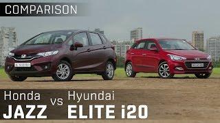 Honda Jazz vs Hyundai i20 Elite :: Premium Diesel Hatchback Comparison :: ZigWheels