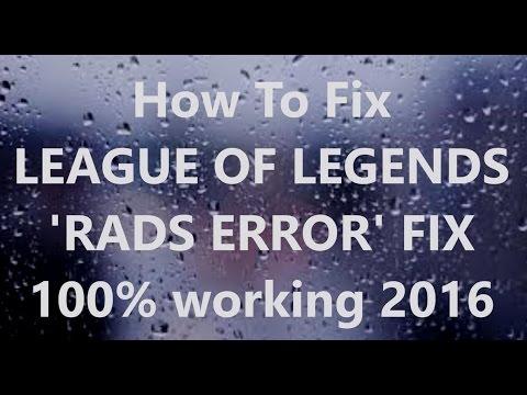 Rads League of Legends Dns Error Check Your Internet Access Fix Video