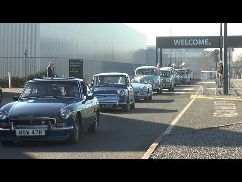 Classic Cars Convoy from Mini Oxford to Nuffield Place
