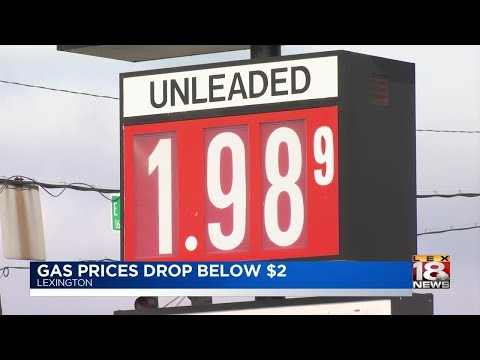 Gas Prices Drop Below $2