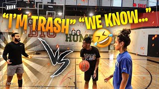 ClarenceNYC vs Bree *** 2 on 2 Basketball*** Intense!!!