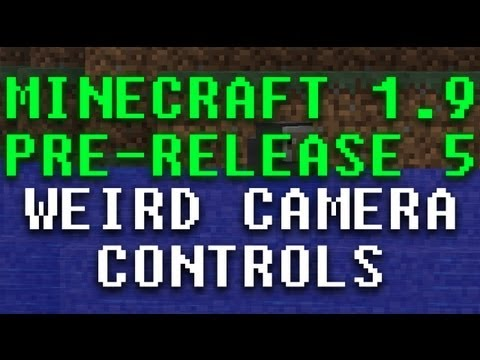 Minecraft 1.9 Pre-5: Weird camera controls *Pointless Features List!*
