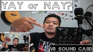 YAY OR NAY? V8 SOUND CARD UNBOXING ...