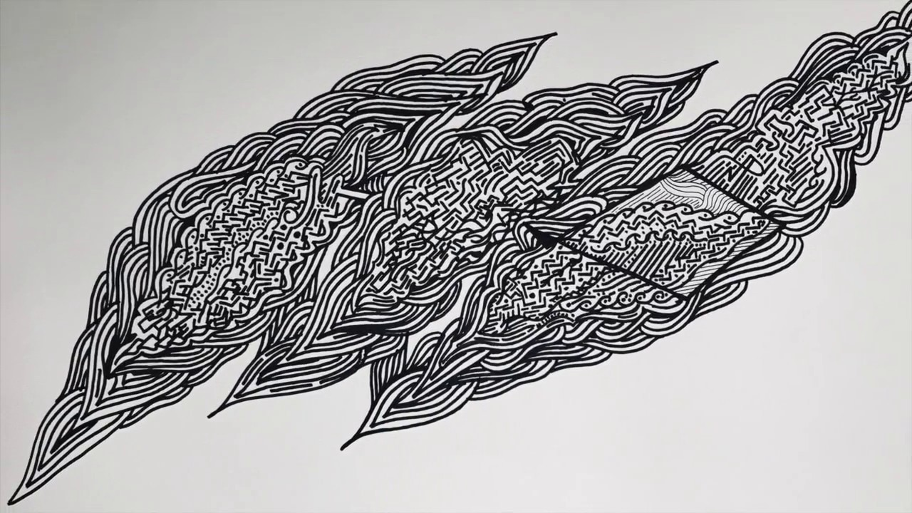 Line Drawing Feather : Lightning bolt line art drawing time lapse youtube