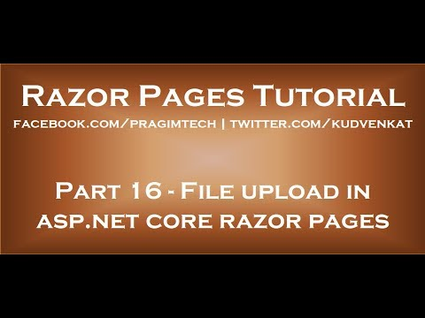File Upload In Asp Net Core Razor Pages