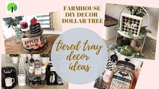 FARMHOUSE DIY DECOR DOLLAR TREE/TIERED TRAY DECOR IDEAS