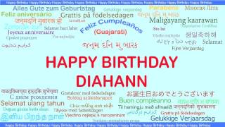 Diahann   Languages Idiomas - Happy Birthday