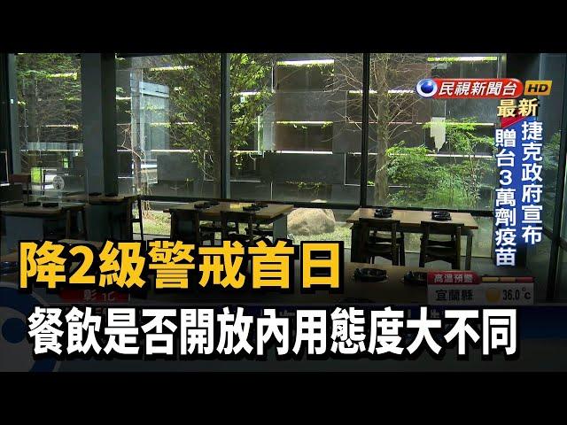 防疫降2級 小吃餐館內用外帶不同調-民視台語新聞