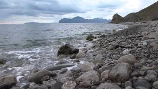 Морской релакс. Орджоникидзе. Пляж 08.09.2013. Шум моря.