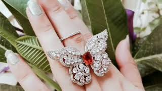 Designer Artificial Jewellery - flying Butterfly ring. Call or whtsapp @9560097937