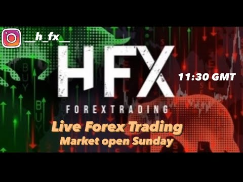 Live Forex Trading with HFX – Sunday Market Open