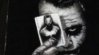 Drawing Joker with The Batman card