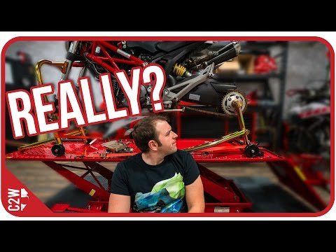 The wheel fell off...[Wrecked Bike Rebuild - Ep. 06 - Ducati Monster 1100]