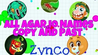all agar io names copy and past zt tyt ace hero and more