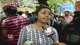 Students, Parents Stage Protest Before Inter-Board As Results Goof Up | Teenmaar News | V6 News
