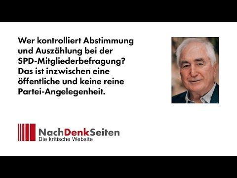 Wer kontrolliert Abstimmung und Auszählung bei der SPD-Mitgliederbefragung? | NachDenkSeiten-Podcast
