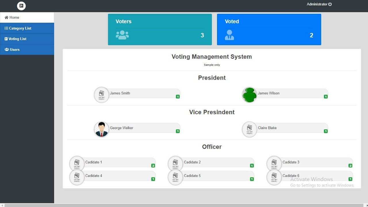Voting Management System in PHP MySQL with Source Code