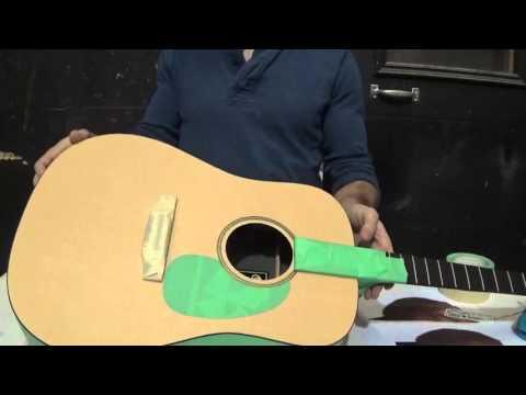 Acoustic Guitar Airbrush Job: Masking