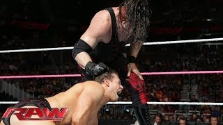 KANE UNMASKS - The Miz vs. Kane: Raw, Oct. 28, 2013
