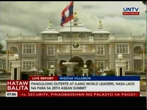 Pangulong Duterte at ilang World Leaders, nasa Laos na para sa 28th ASEAN Summit