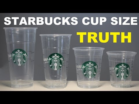 STARBUCKS CUP SIZES JUSTIFIED (EXPERIMENT)