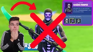 Skins TRANSFER in FORTNITE goes SCHIEF😢💔 OG Skulltrooper is WEG