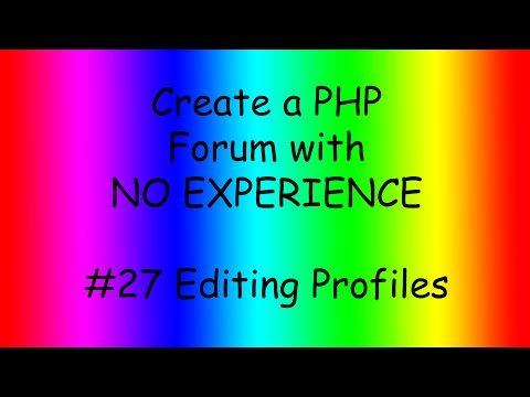 How to make a PHP forum ep27 Editing page