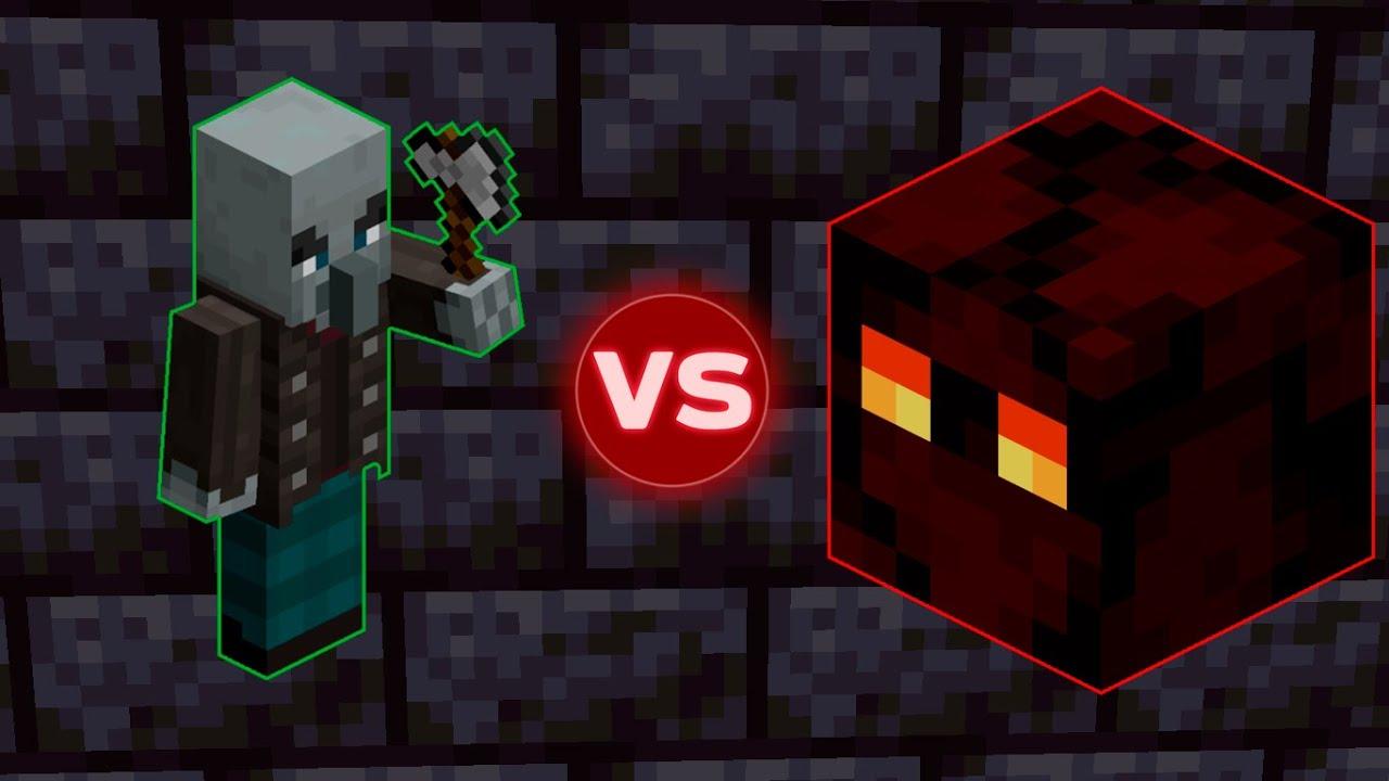 Vindicator vs Magma Cube - Minecraft Mob Battle [Season 122] Minecraft 122.1226