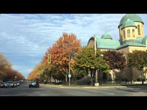 3 minutes of driving on boulevard Saint Michel in Rosemont (Ukrainian district in Montreal)