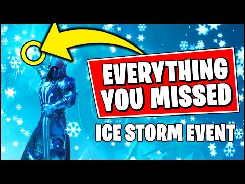 Everything You *MISSED* About The ICE STORM EVENT in Fortnite thumbnail
