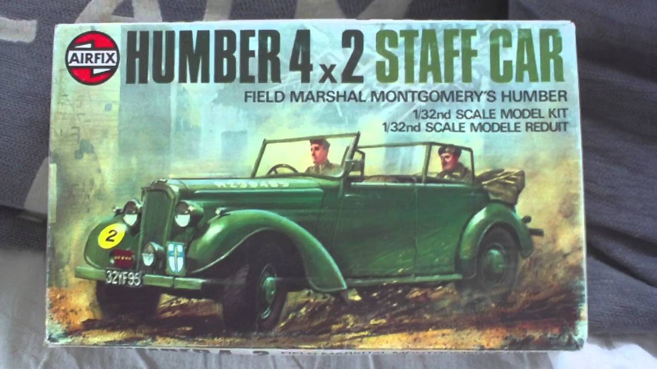 REVIEW,VINTAGE AIRFIX 1/32 MONTGOMERYS HUMBER 4X2 STAFF CAR MODEL ...