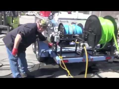 Hot & Cold Water Trailer Sewer Twin Engine Jetter - Safety & Instruction Video. HotJet USA®