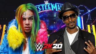 6IX9INE vs SNOOP DOGG | WWE 2K20 Gameplay