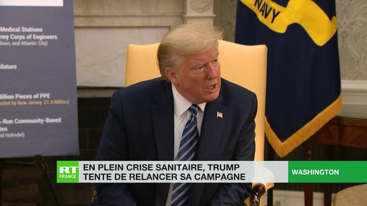 Critiqué pour sa gestion de la crise sanitaire, Trump tente de relancer sa campagne présidentielle