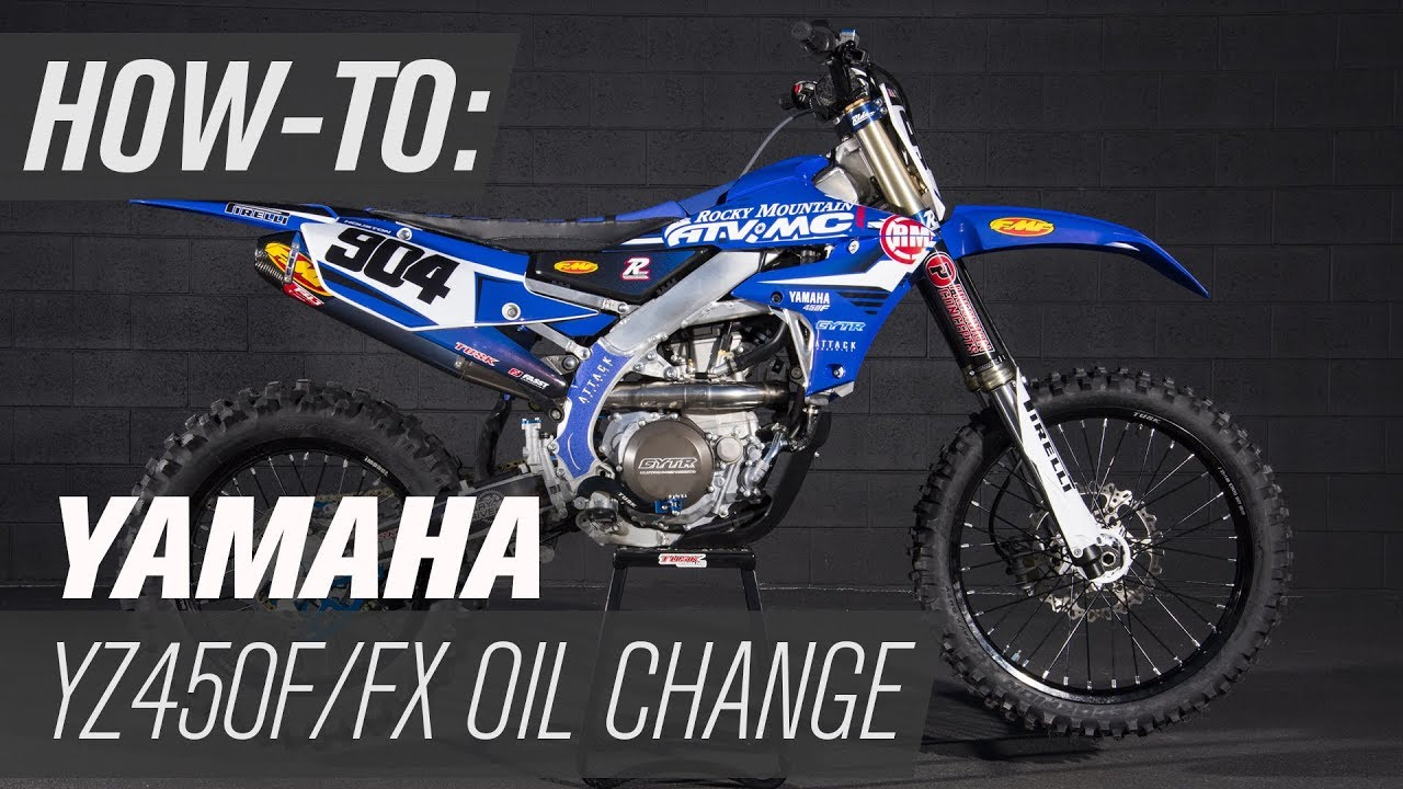 How To Change The Oil On a Yamaha YZ450F/FX