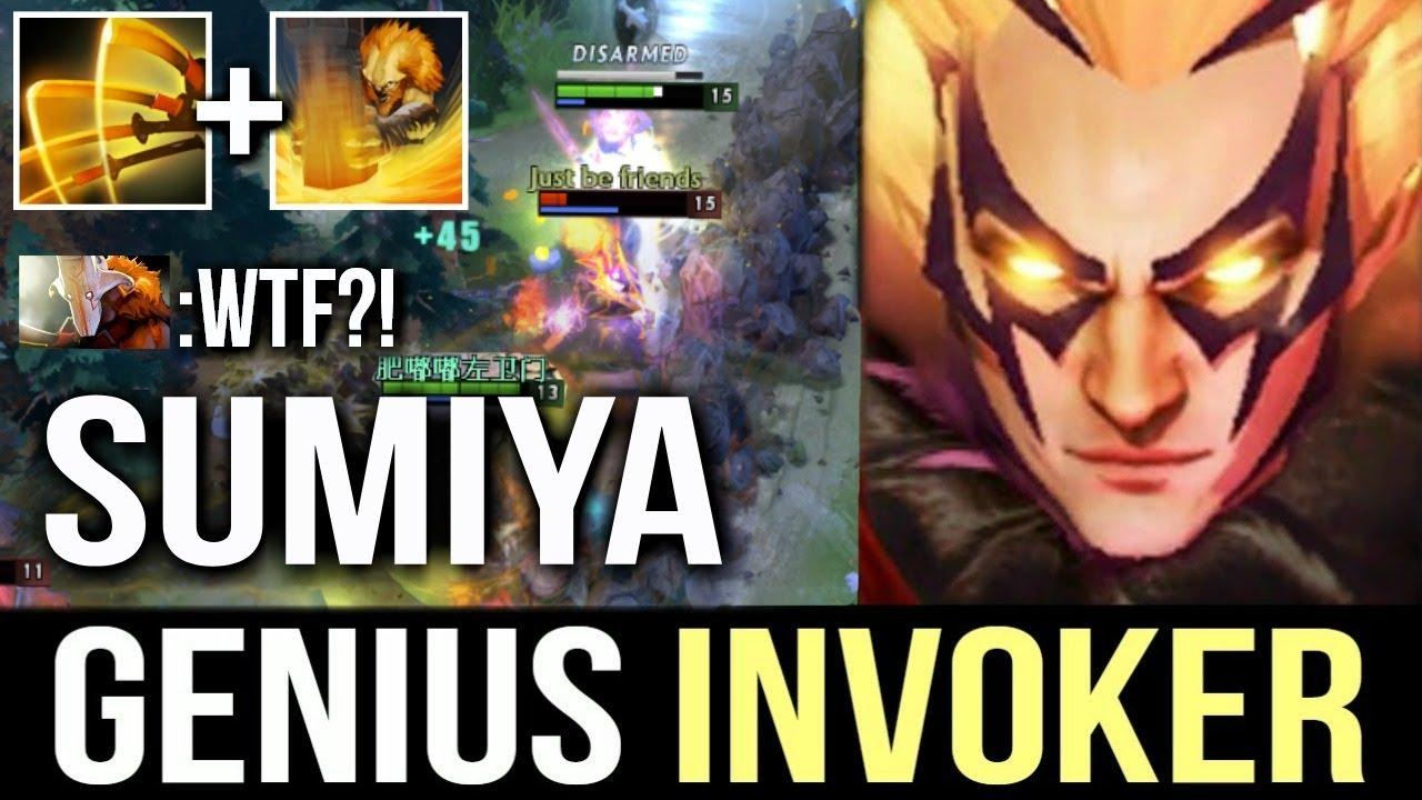 Genius Sumiya Invoker Next Level Gameplay Epic Combo Comeback Dota