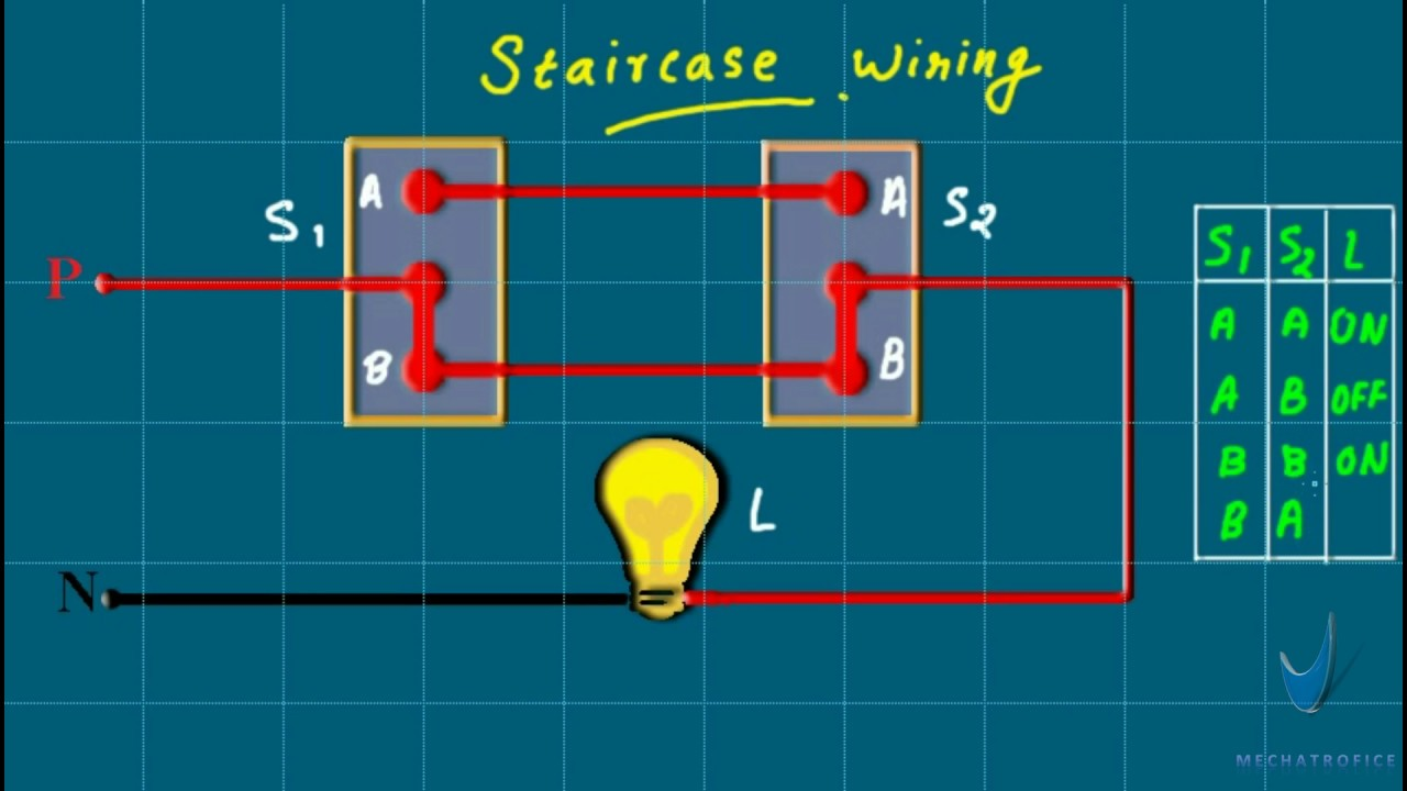 Staircase wiring experiment | Light wiring 01  YouTube