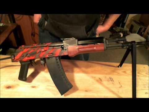 Red Tiger Stripe AK74
