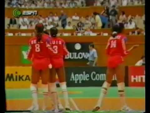 1995 Women Volleyball World Grand Prix Cuba USA Shanghai Final