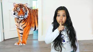 شفا خافت من النمر !!! children really want to have a pet