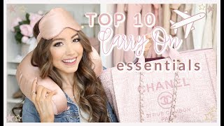 WHAT'S IN MY CARRY ON 2020 ✈️ 10 MUST HAVE TRAVEL ESSENTIALS