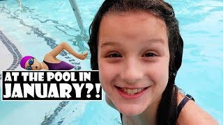 At The Pool In January?! 🏊♀️ (WK 367.7) | Bratayley