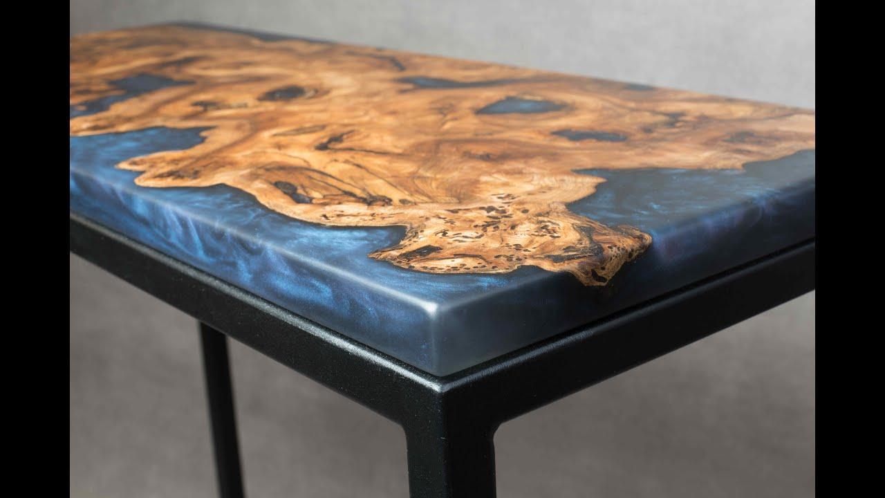 fabrication table en bois et resine epoxy