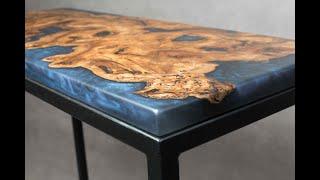 Fabrication table en bois et résine époxy