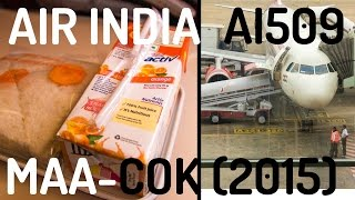 Air India AI509 : Flying from Chennai to Kochi (2015)