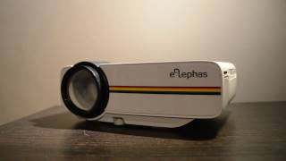 ELEPHAS 1200 Lumens LED Mini Pico Projector